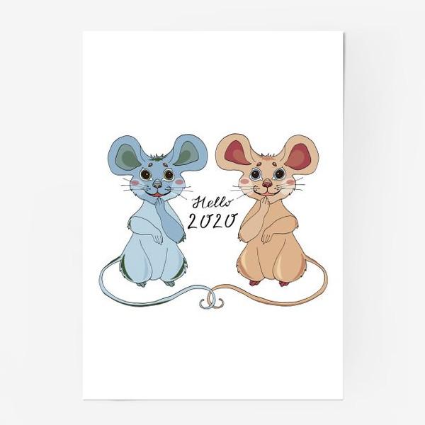 Постер «Мышки ждут новый год»
