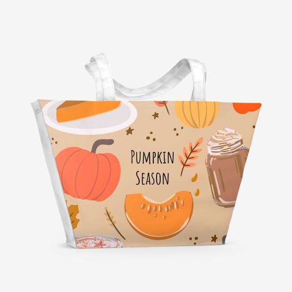 Пляжная сумка «Сезон тыкв»
