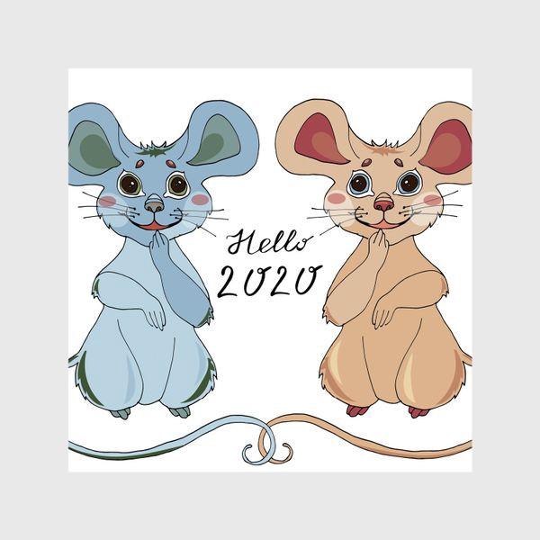 Шторы «Мышки ждут новый год»