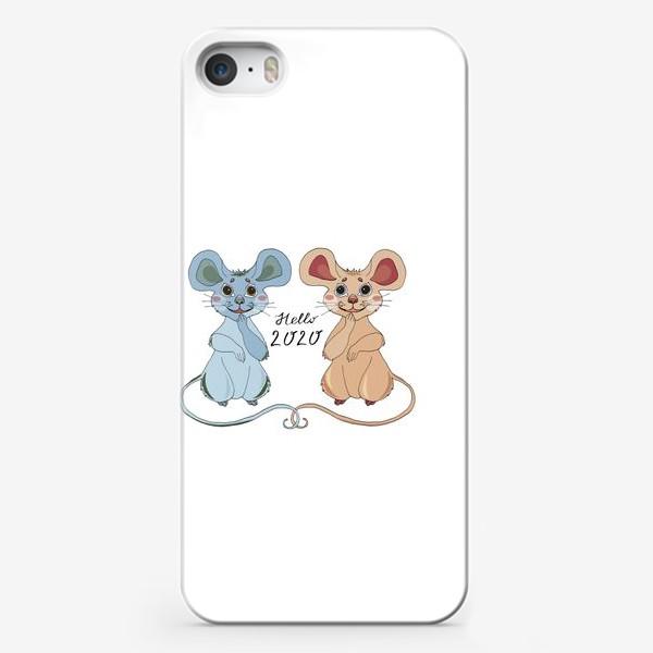 Чехол iPhone «Мышки ждут новый год»