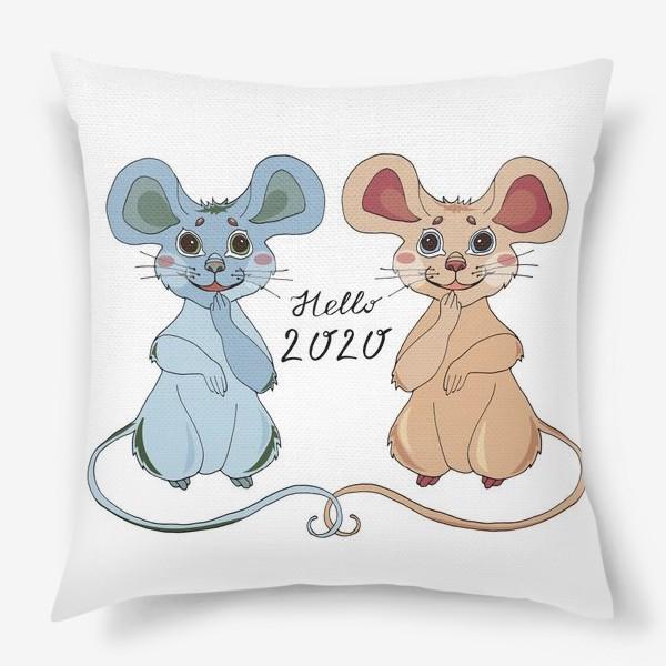 Подушка «Мышки ждут новый год»