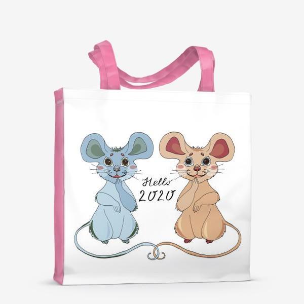 Сумка-шоппер «Мышки ждут новый год»