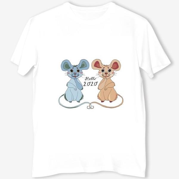Футболка «Мышки ждут новый год»