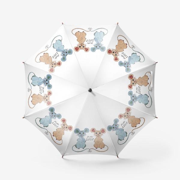 Зонт «Мышки ждут новый год»