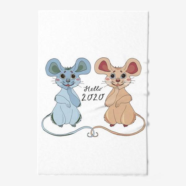 Полотенце «Мышки ждут новый год»