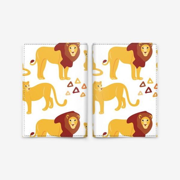 Обложка для паспорта «Львы»