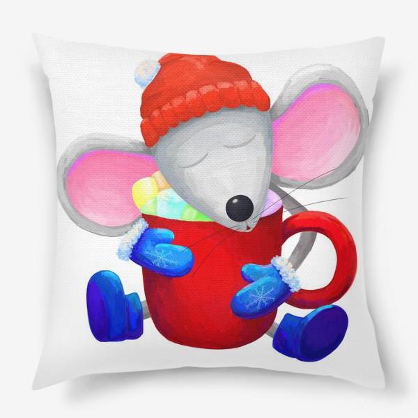 Подушка «Мышка с какао»