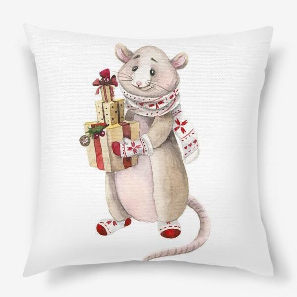 Подушка «Мышонок Новый год»