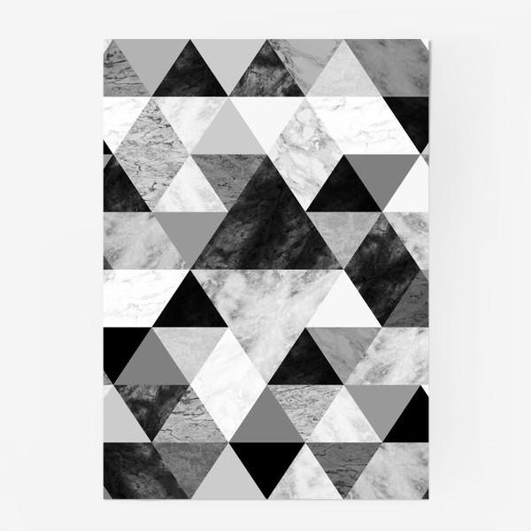 Постер «Абстрактный паттерн, треугольники и ромбы, текстура мрамора»
