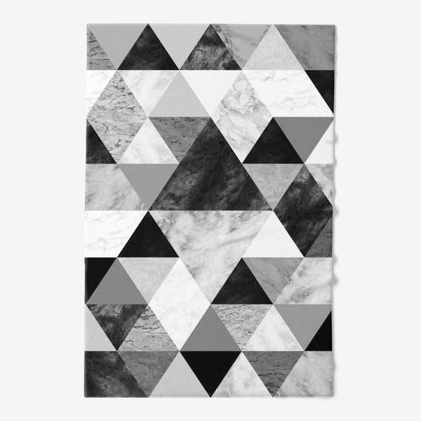 Полотенце «Абстрактный паттерн, треугольники и ромбы, текстура мрамора»