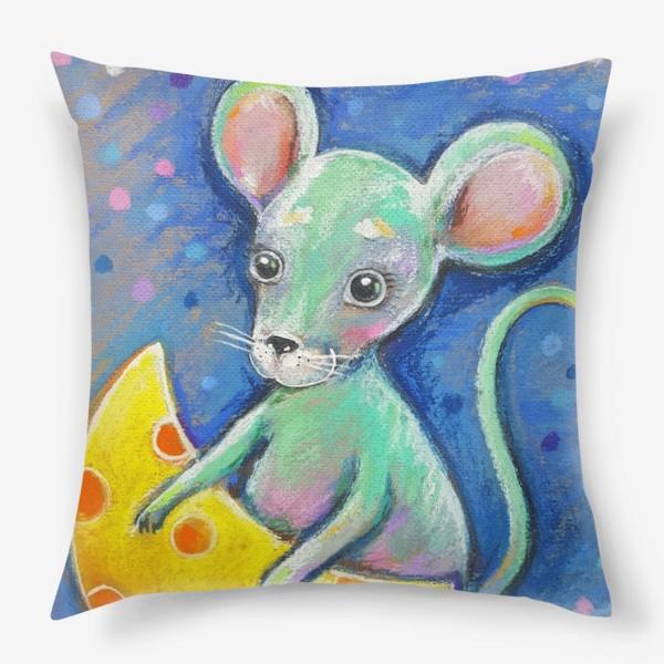 Подушка «Мышка и сыр»