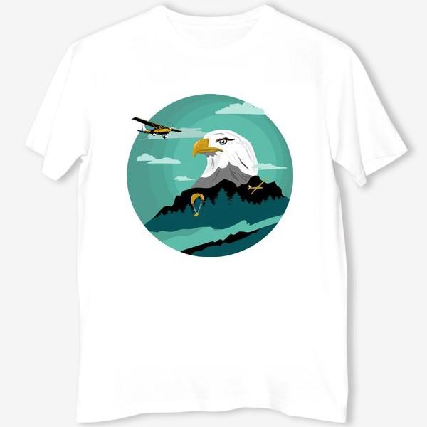 Футболка «Принт. Орел, параплан, самолет, планер.»