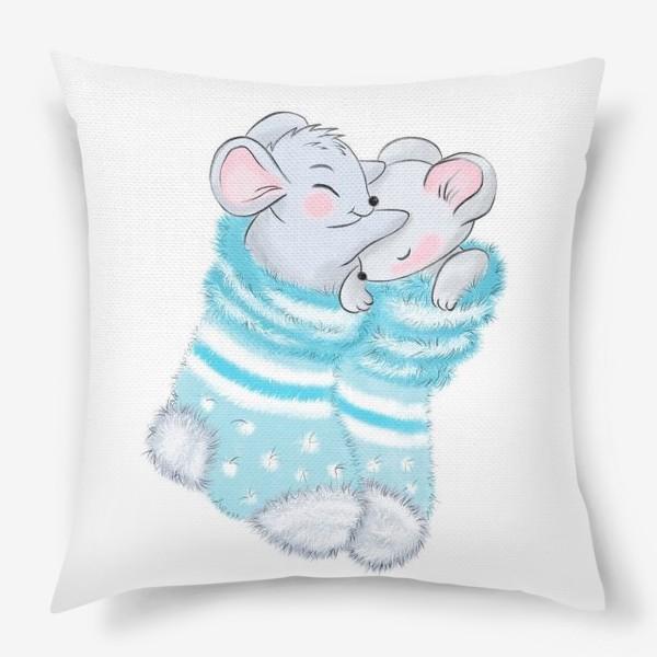 Подушка «Влюбленные мыши»