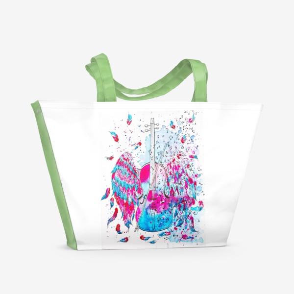 Пляжная сумка «Музыка окрыляет»