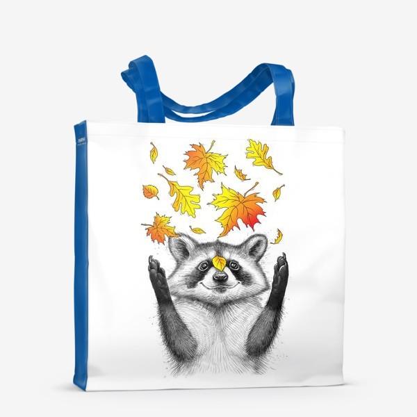 Сумка-шоппер «Осенний енот»