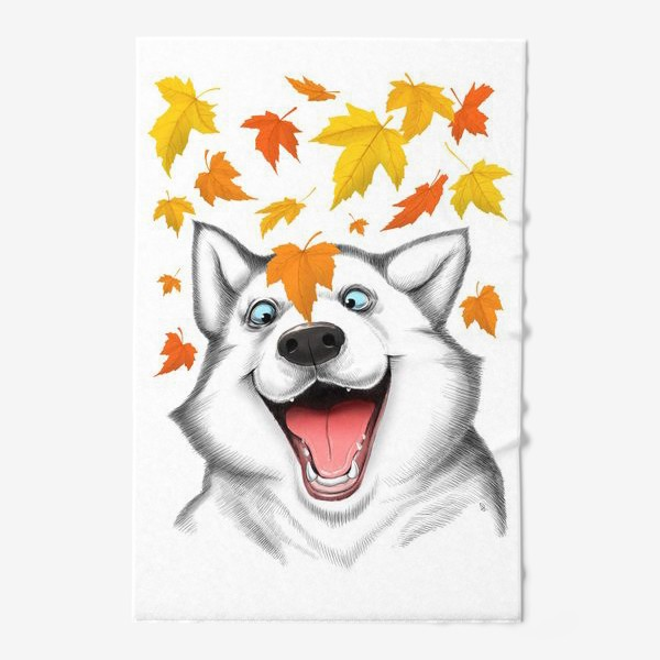Полотенце «Осенний хаски»