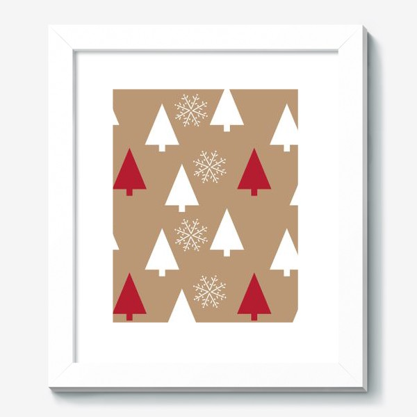 Картина «Елочки, снежинки»