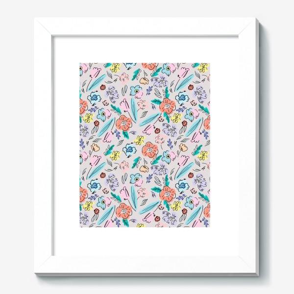 Картина «Ситцевые цветы»