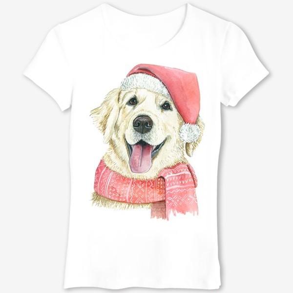Футболка «Лабрадор Новогодний пес»