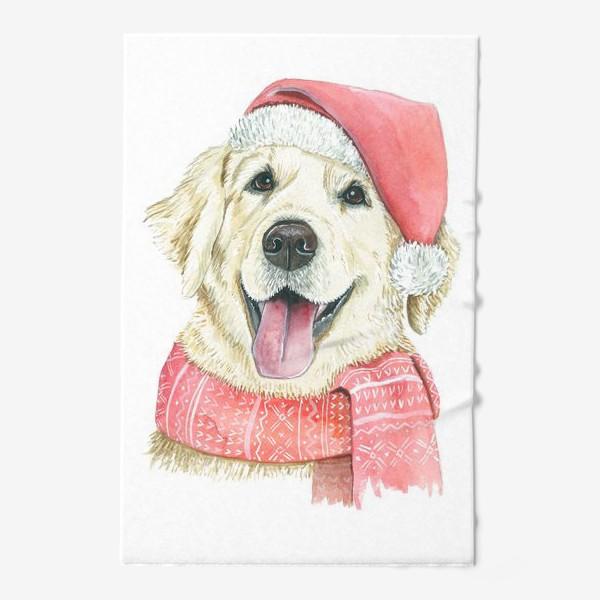 Полотенце «Лабрадор Новогодний пес»