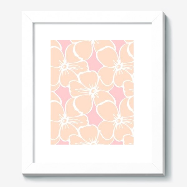 Картина «Цветочный фон розовый»