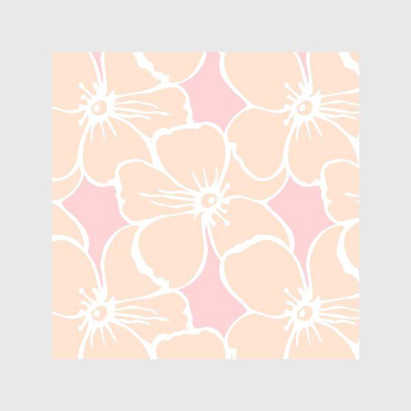 Скатерть «Цветочный фон розовый»