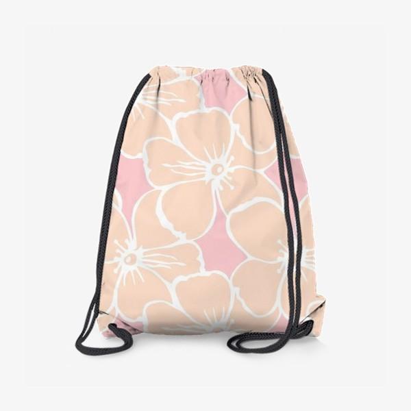 Рюкзак «Цветочный фон розовый»