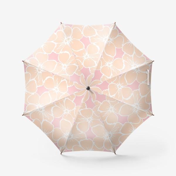 Зонт «Цветочный фон розовый»
