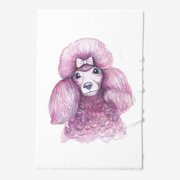 Полотенце «Розовый пудель»