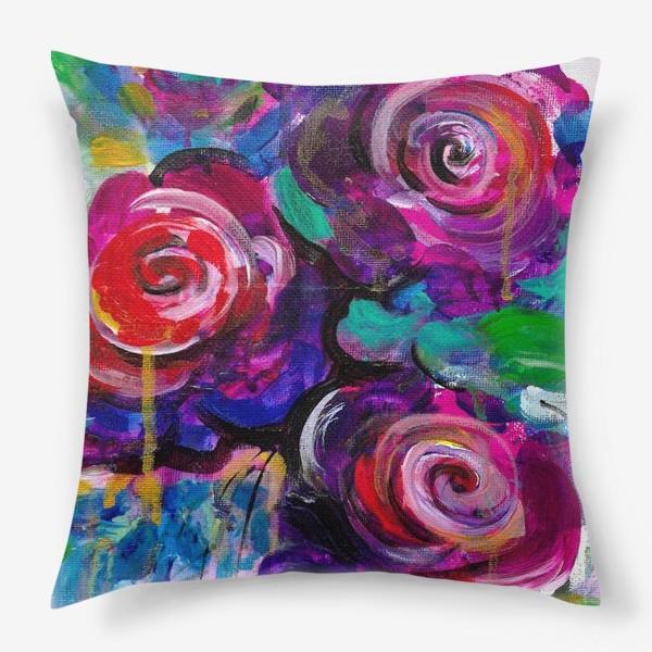 Подушка «Abstract flora»