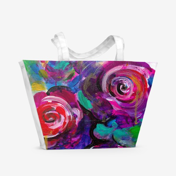 Пляжная сумка «Abstract flora»