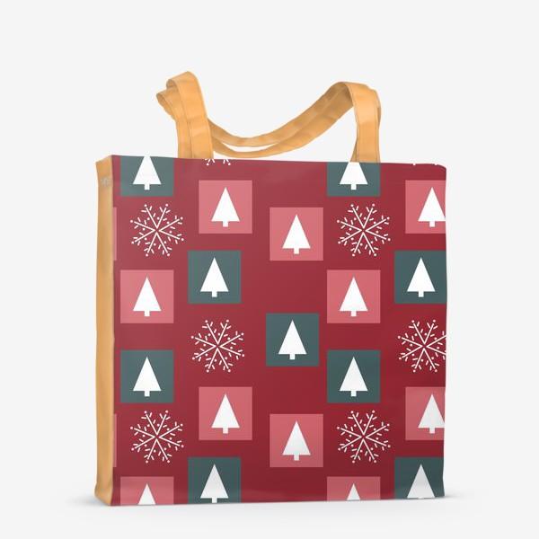 Сумка-шоппер «Новогодний паттерн»