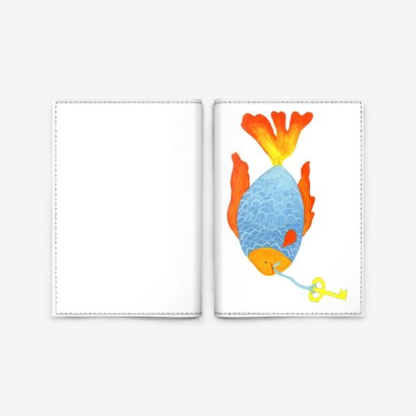 Обложка для паспорта «Рыбка с золотым ключиком»