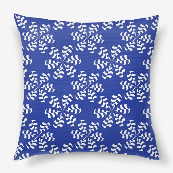 Подушка «Белые абстрактные  цветы »