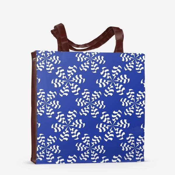 Сумка-шоппер «Белые абстрактные  цветы »
