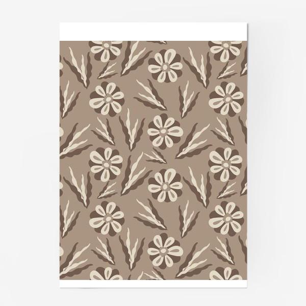 Постер «Простые цветы в пастельных тонах»