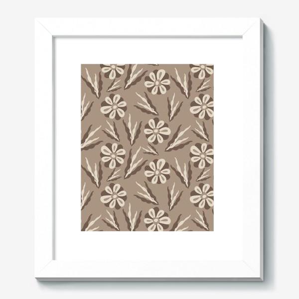 Картина «Простые цветы в пастельных тонах»