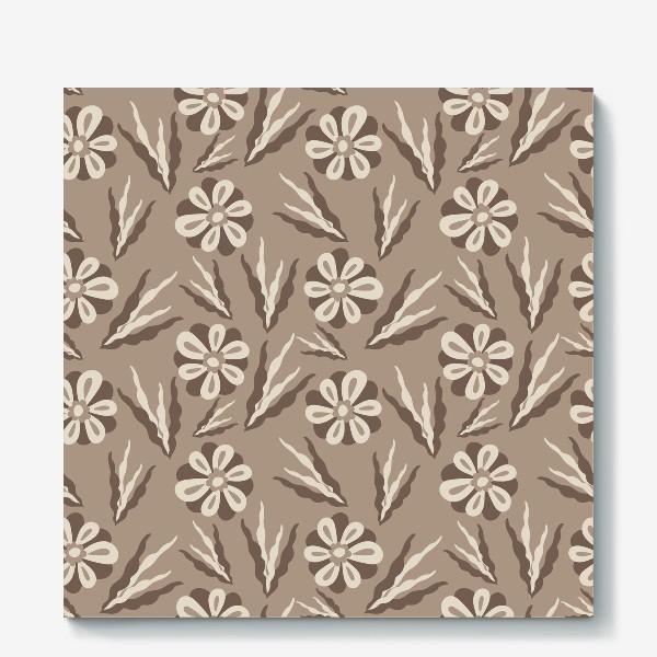 Холст «Простые цветы в пастельных тонах»