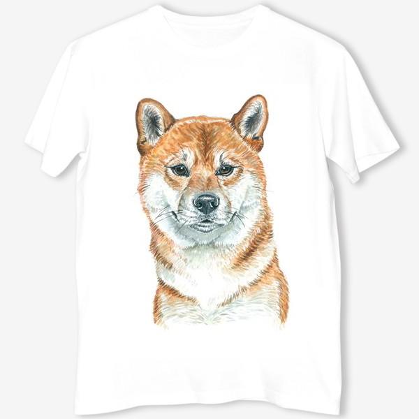 Футболка «пес Шиба Ину »
