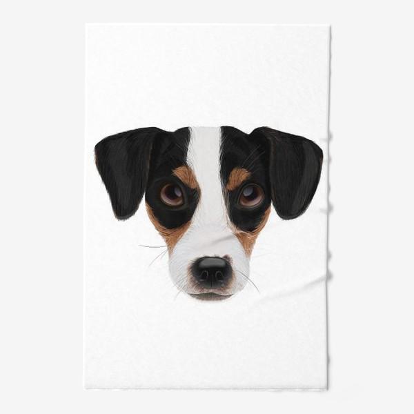 Полотенце «Портрет собаки. Джек рассел терьер»