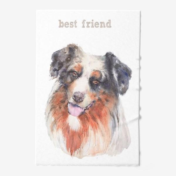 Полотенце «Собачка бордер колли-лучший друг»
