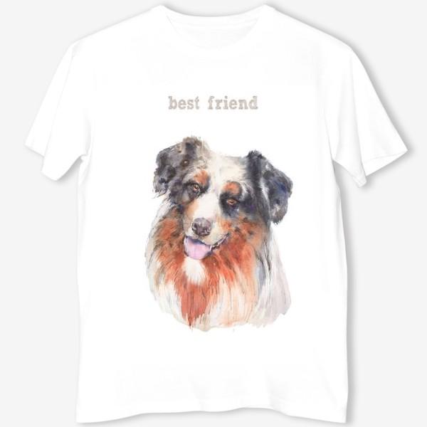 Футболка «Собачка бордер колли-лучший друг»