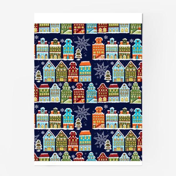 Постер «Пряничные домики. Паттерн»