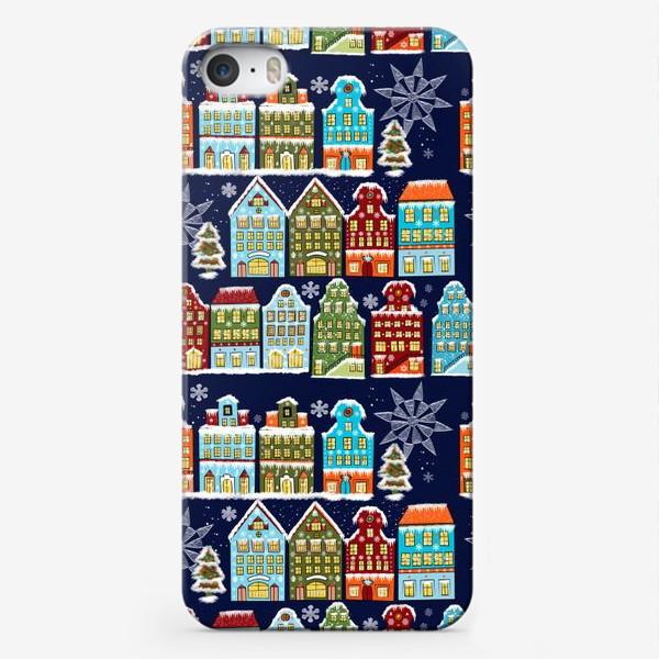 Чехол iPhone «Пряничные домики. Паттерн»
