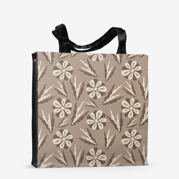 Сумка-шоппер «Простые цветы в пастельных тонах»