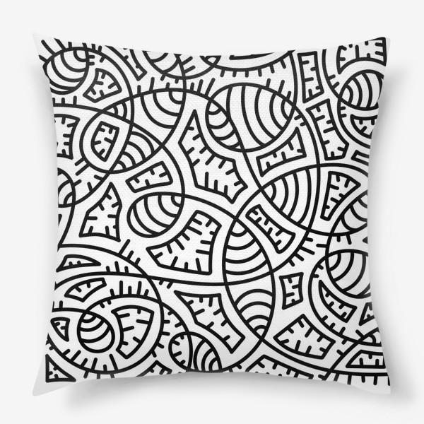 Подушка «Причудливые переплетения. Абстракция»