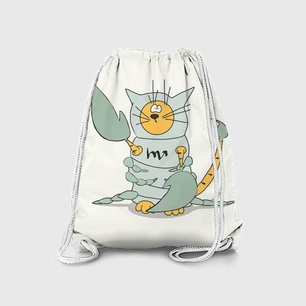 Рюкзак «Кот Скорпион. Подарок Скорпиону. Знак Зодиака»