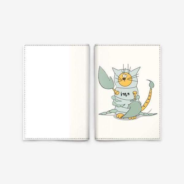 Обложка для паспорта «Кот Скорпион. Подарок Скорпиону. Знак Зодиака»