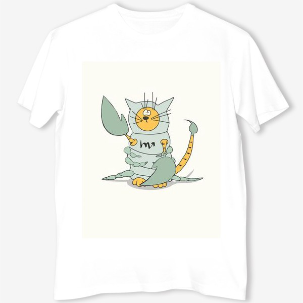 Футболка «Кот Скорпион. Подарок Скорпиону. Знак Зодиака»