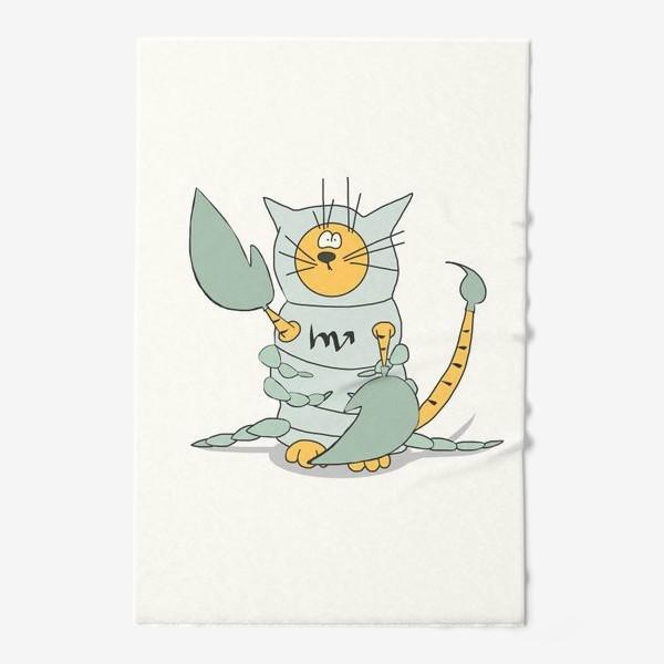 Полотенце «Кот Скорпион. Подарок Скорпиону. Знак Зодиака»